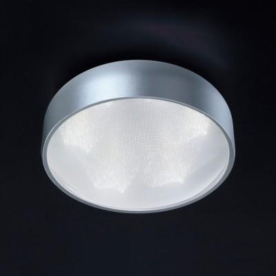 Plafon Bella HO092S Alum/Acrilico 6x LED Ø24,5x10cm - Prata