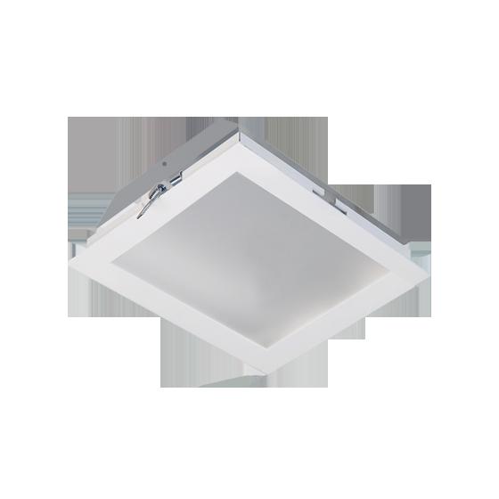 Plafon Embutir Incolustre 896.85 Slim 3L E27 300x300x58mm