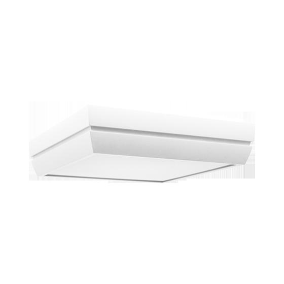 Plafon Incolustre 899.09 DUNI 40 4L E27 400x400x90mm Branco