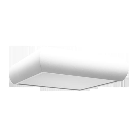 Plafon Incolustre 899.37 UNI 30 2L E27 300x300x90mm Branco