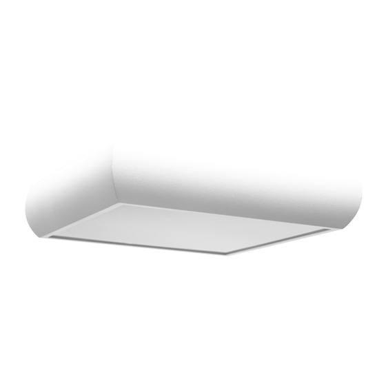 Plafon Incolustre 899.41 UNI 40 4L E27 400x400x90mm Branco