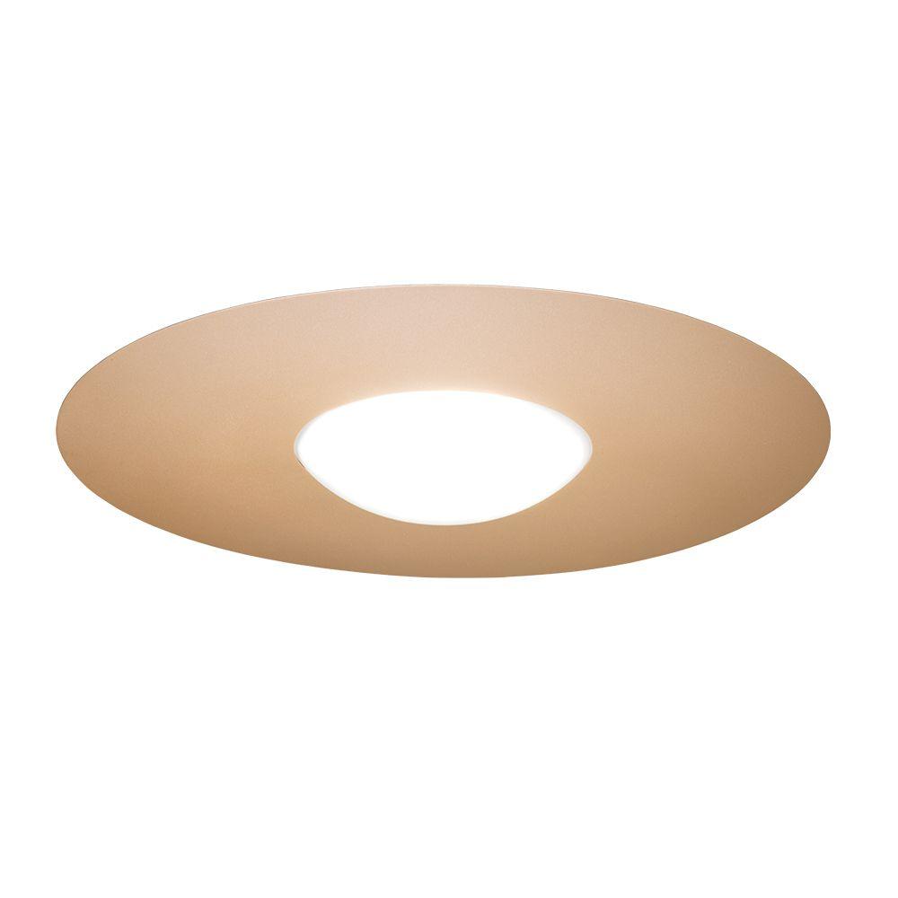 Plafon LED Munclair 3393 Sol 17W 3000K + Fita LED 10W 3000K Bivolt Ø700x98mm