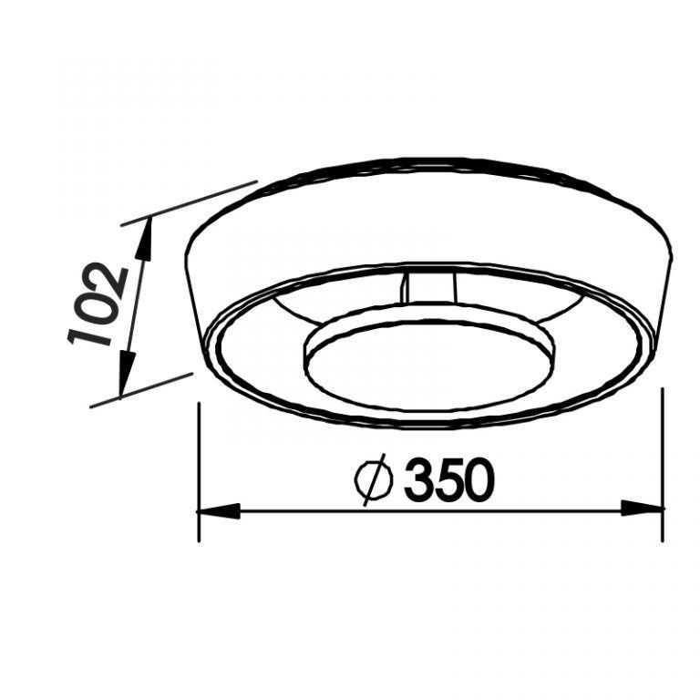 Plafon LED Newline 450LED2 Iris Sobrepor 18W 2700K 220V Ø350x102mm