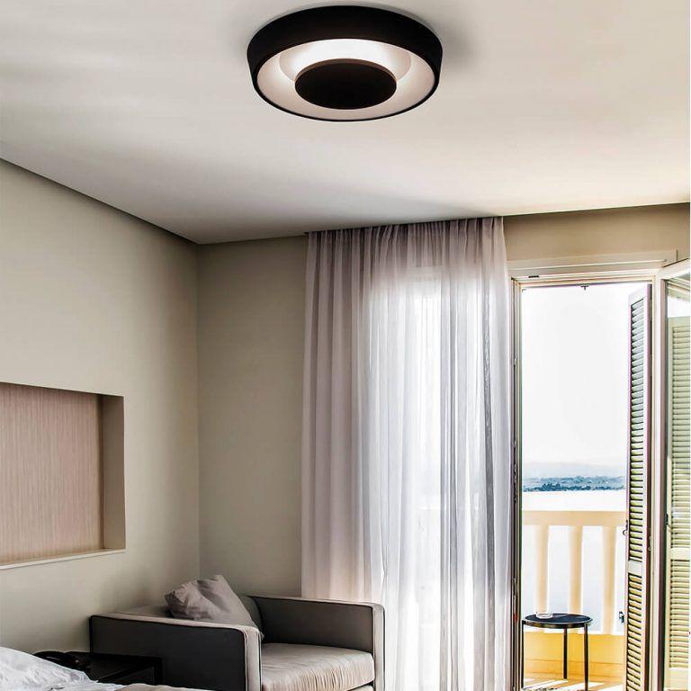 Plafon LED Newline 452LED1 Iris Sobrepor 30W 2700K 127V Ø600x102mm