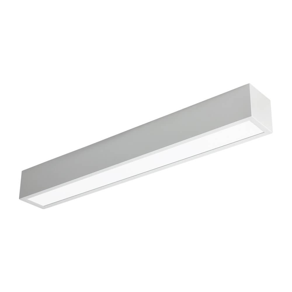Plafon LED Newline 460LED3 Sobrepor V 16W 3000K Bivolt 75x600x70mm
