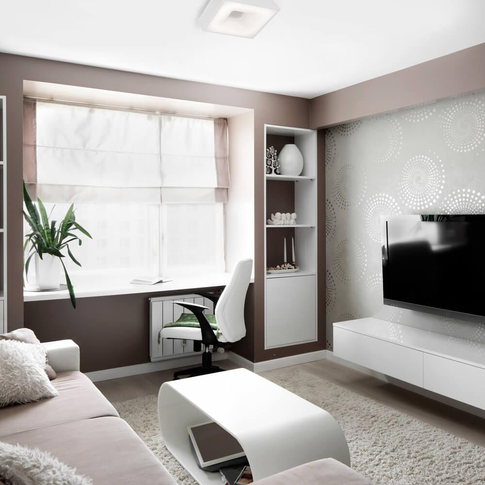 Plafon LED Newline 482LED4 New Massu 33,6W 4000K Bivolt 470x470x83mm