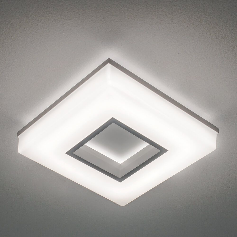 Plafon LED Newline 490LED3 Pixel 16,8W 3000K Bivolt 265x265x70mm