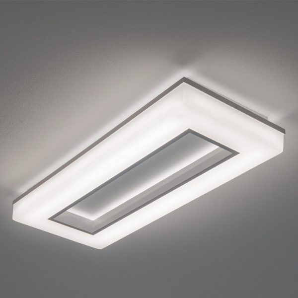 Plafon LED Newline 493LED4 Pixel 33,6W 4000K Bivolt 643x265x70mm