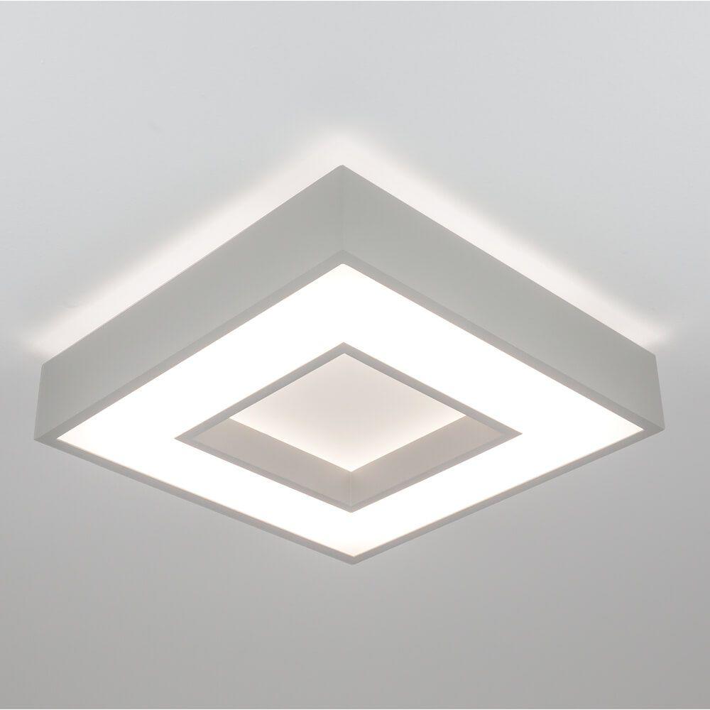 Plafon LED Newline 511LED4 New Chess Sobrepor 25,2W 4000K Bivolt 350x350x83mm