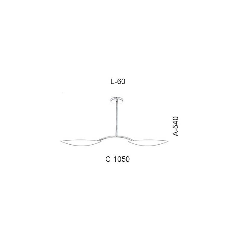 Plafon Led Old Artisan PLF-5373 44W 2700K 220V 540x60x1050mm