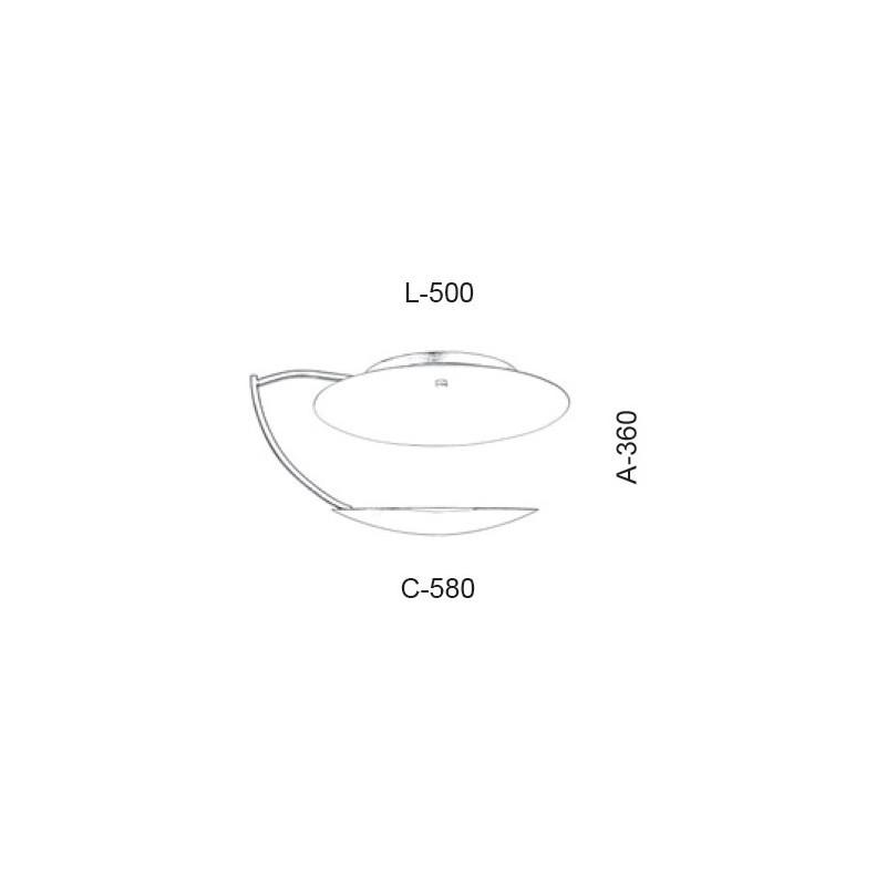Plafon Led Old Artisan PLF-5376 16.5W 2700K 110V 360x500x580mm