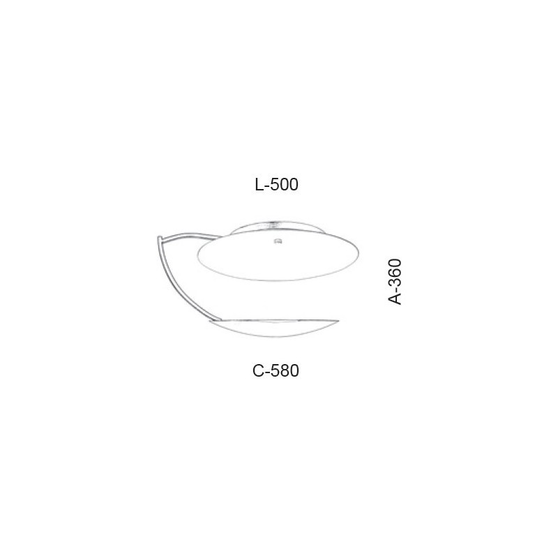 Plafon Led Old Artisan PLF-5376 16.5W 2700K 220V 360x500x580mm