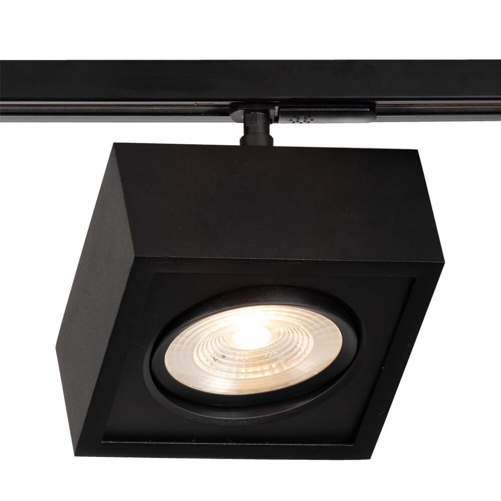 Plafon LED para Trilho Eletrificado Newline 563AP Box Facho Orientável 12W 3000K Bivolt 150x150x114mm - Preto