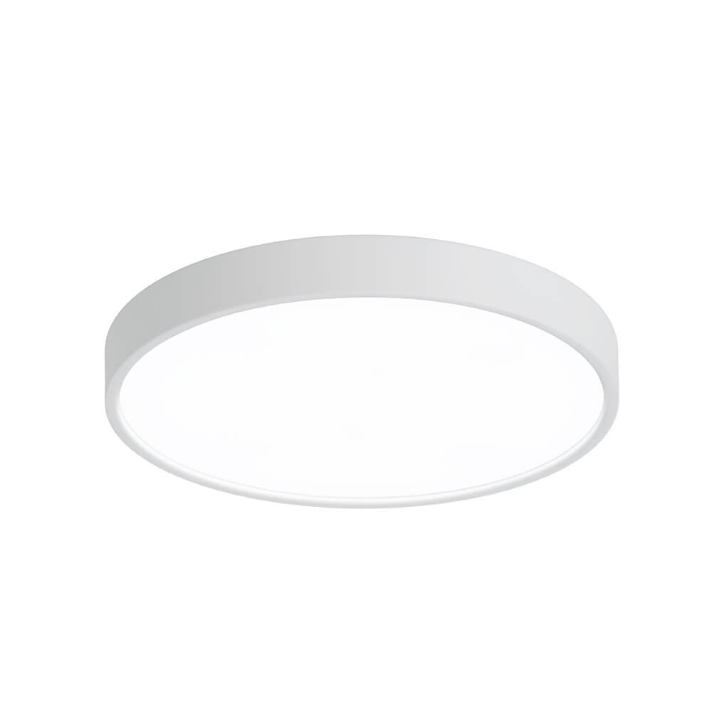 Plafon Sobrepor Newline 9047 Ring C/ Difusor 6L E27 Ø600x105mm