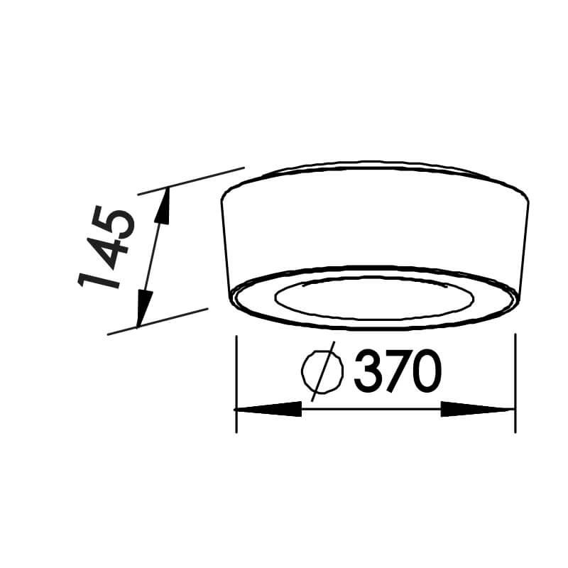 Plafon Newline ST20200 Sushi 4L E27 Ø370x145mm