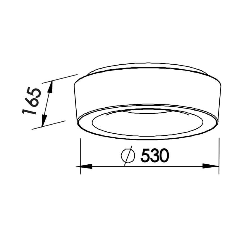 Plafon Newline ST20201 Sushi 6L E27 Ø530x165mm