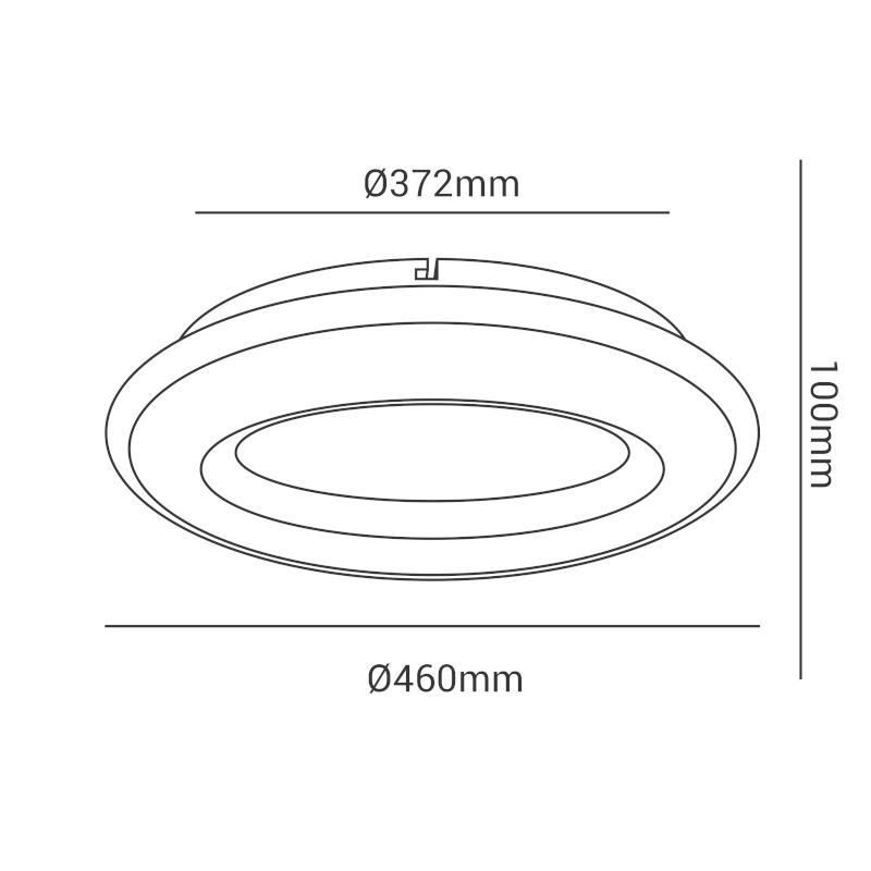 Plafon Opus DN38001 Hole 27W Bivolt IP20 Ø46x10cm