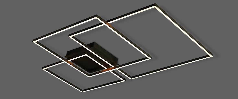 Plafon Opus DN38025 Canvas 116W 3000K Bivolt IP20 1040x700cm