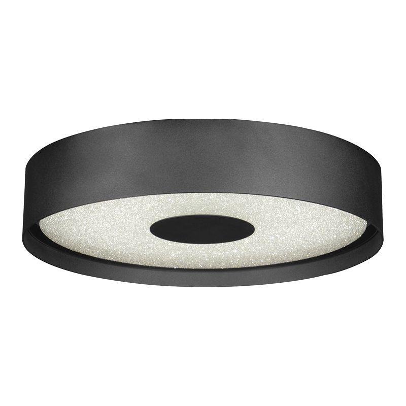 Plafon Sobrepor LED Starlux BK31121-40W Redondo Zeus 40W 2700K Bivolt Ø510x80mm - Preto Fosco