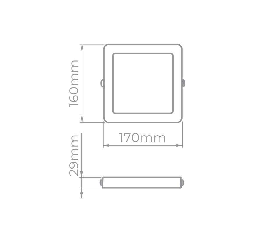 Plafon Sobrepor LED Stella STH8962Q/65 Quadrado 12W 6500K 112G Bivolt 170x170x32mm - Branco