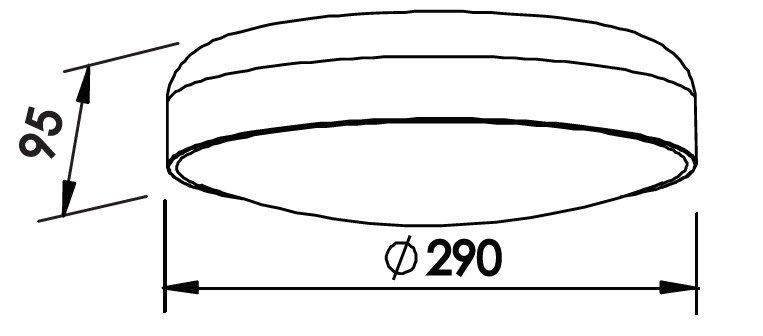 Plafon Sobrepor Newline 160 Victoria C/ Difusor 2L E27 Ø290x95mm