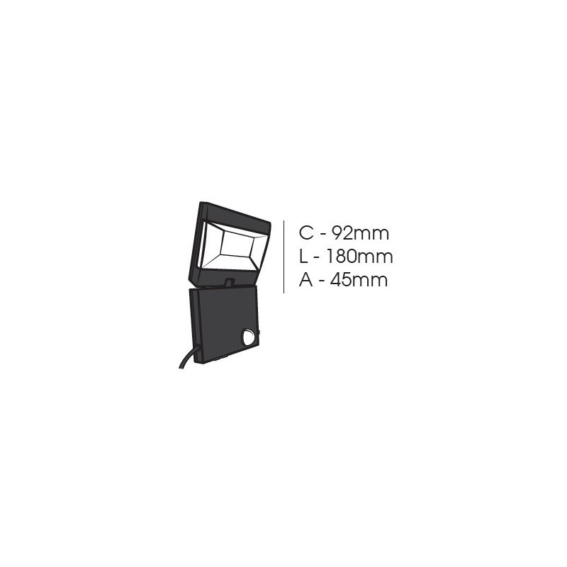 Refletor LED Ecoforce 15560 Solar 3.6W 6000K IP54 45x180x92mm