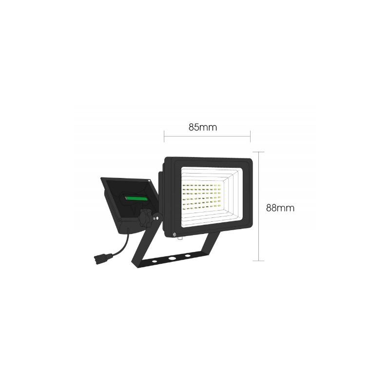 Refletor LED Ecoforce 17194 Solar 3.6W 6000K IP54 88x85x132mm
