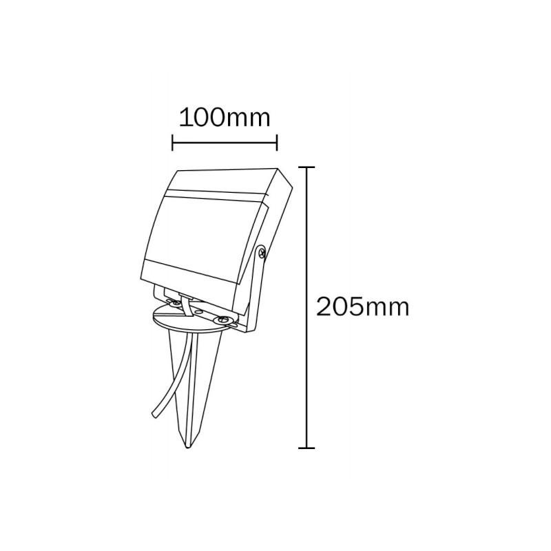 Refletor LED Ecoforce 18455 7,5W Verde Bivolt IP65 100x100x205mm