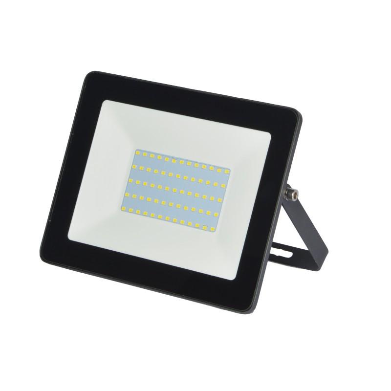 Refletor Ultrafino LED Gaya 9513 50W IP65 285x275x50mm Preto