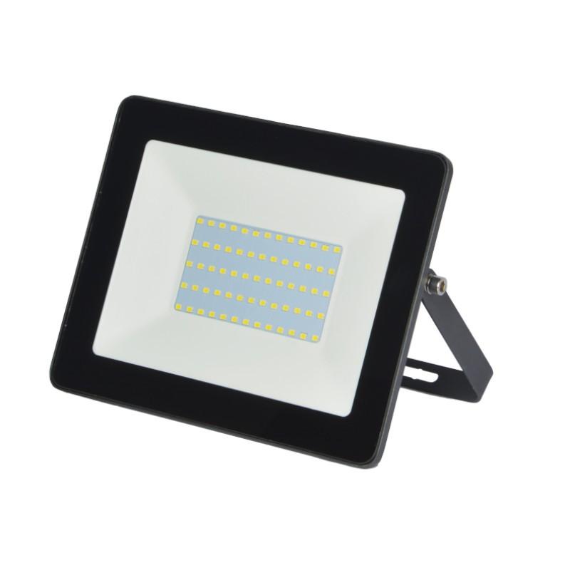 Refletor Ultrafino LED Gaya 9517 50W 6000K IP65 285x232x58mm Preto