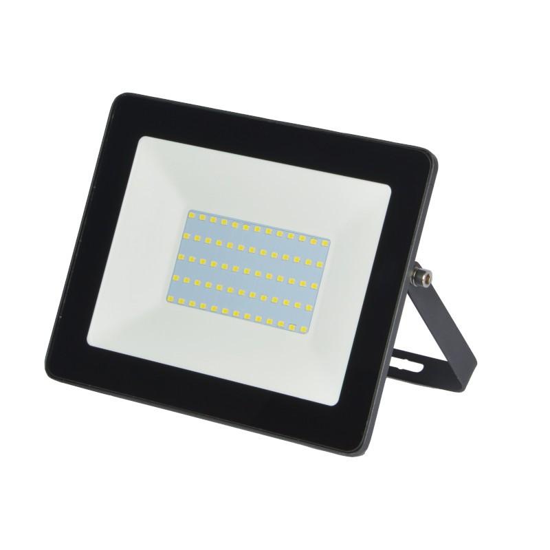 Refletor Ultrafino LED Gaya 9518 100W 6000K IP65 335x285x55mm Preto