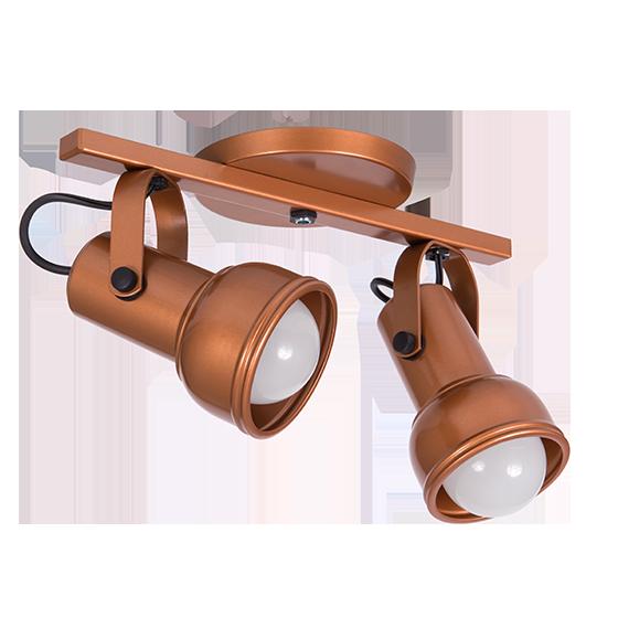 Spot Canopla Sobrepor Incolustre 703.32 Inval 2L PAR20 E27 Ø85x130mm Marrom