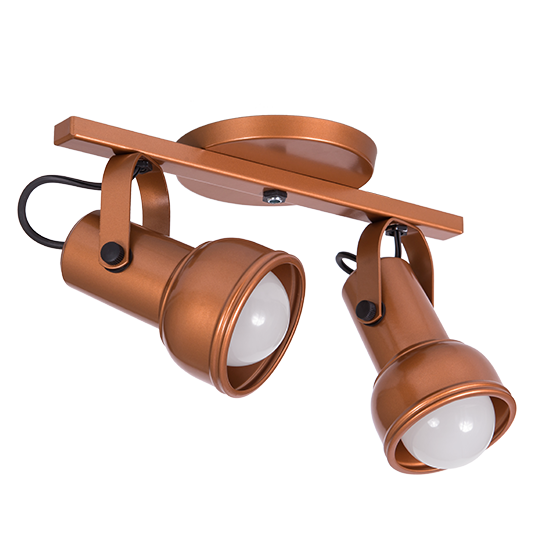 Spot Canopla Sobrepor Incolustre 703.33 Inval 2L PAR20 E27 Ø85x130mm Cobre