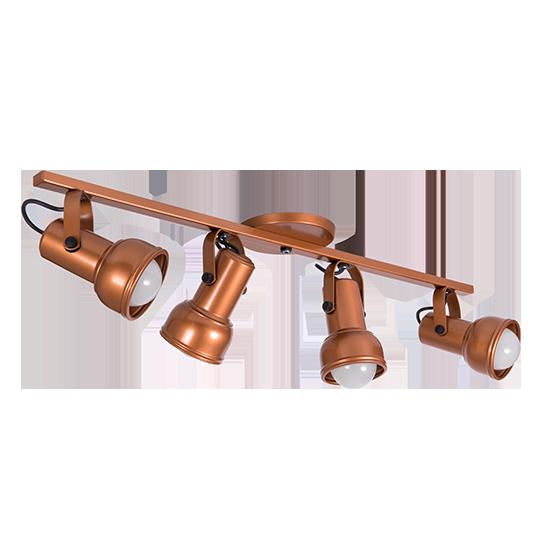 Spot Canopla Sobrepor Incolustre 703.71 Inval 4L PAR20 E27 Ø85x130mm Preto