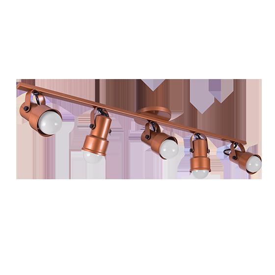 Spot Canopla Sobrepor Incolustre 703.82 Inval 5L PAR20 E27 Ø75x115mm Marrom