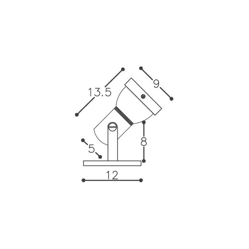 Spot DM Lumi 236 1L PAR20 E27 90x135x120mm