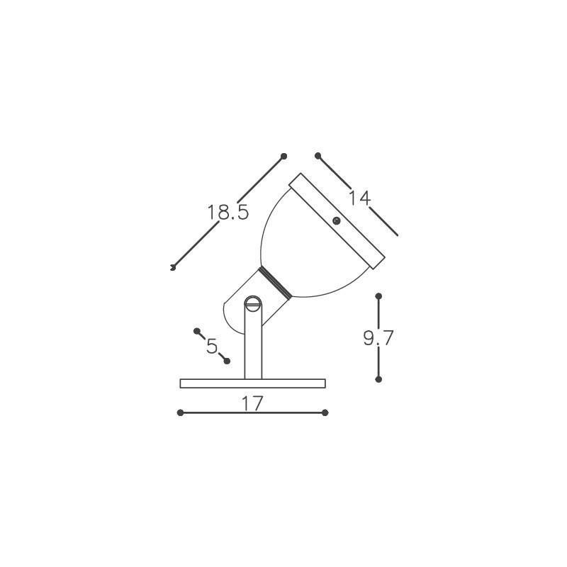 Spot DM Lumi 238 1L PAR20/30/38 E27 140x185x170mm