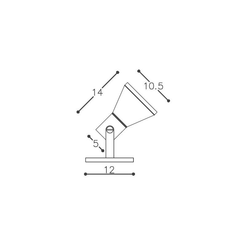 Spot DM Lumi 262/1-SV Taça 1L PAR30 E27 105x140x120mm