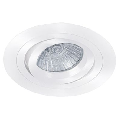 SPOT EMBUTIDO BELLA NS5100B ECCO REDONDO 1L MINI DICRÓICA MR11 GU10 Ø78MM BRANCO
