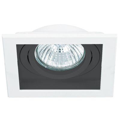 Spot Bella NS7111P Embutir Conecta 1L AR111 GU10 BIvolt 18,2x18,2x16cm Branco/Preto