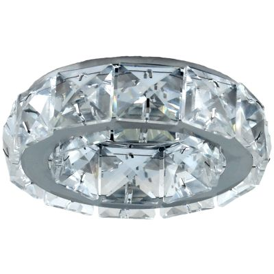 Spot Bella YD101 Embutido Shine 1L Dicróica GU10 Bivolt Ø10x5cm Cromado/Transparente