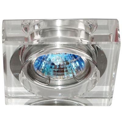 Spot Bella YD631A Embutido Shine 1L Dicróica GU10 Bivolt 10x10x3cm Cromado/Transparente