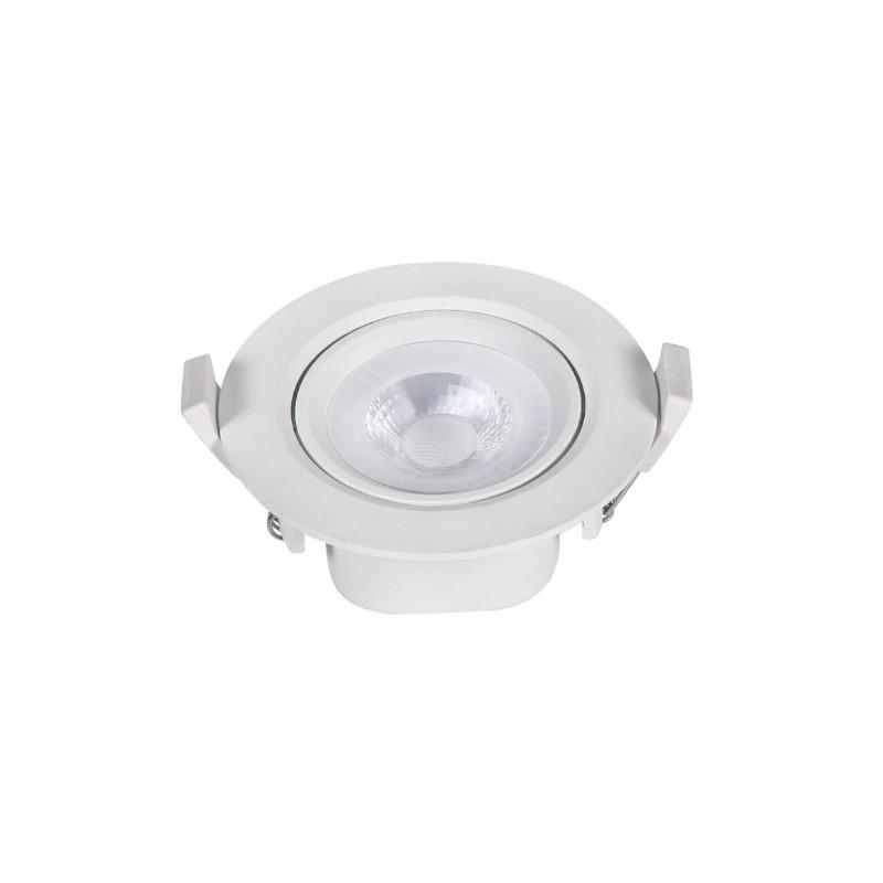Spot Embutir LED Ecoforce 17487 Redondo 5W 3000K IP20 Bivolt Ø88x40mm