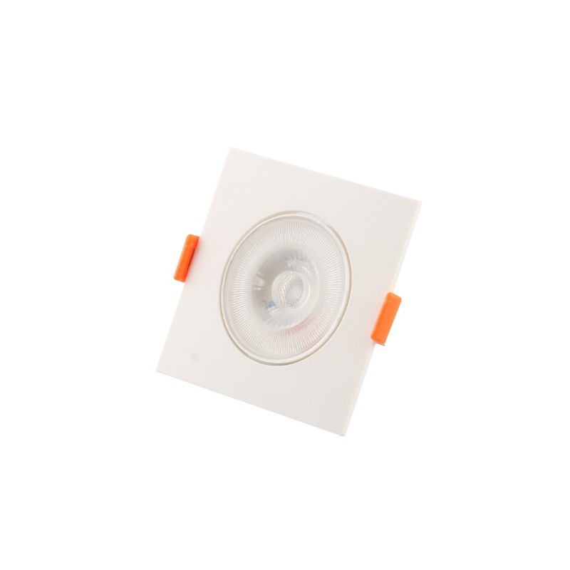 Spot Embutir LED Ecoforce 18541 Quadrado Slim 5W 3000K IP20 Bivolt 85,8x85,8x25mm