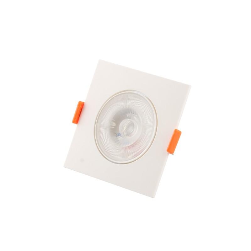Spot Embutir LED Ecoforce 18542 Quadrado Slim 5W 6500K IP20 Bivolt 85,8x85,8x25mm