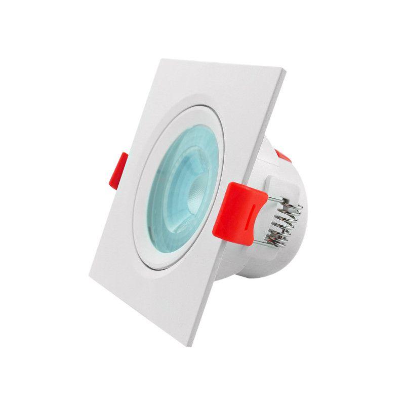 Spot Embutir LED Opus ECO32719 Quadrado 5W 6500K Bivolt Ø92x92x41mm