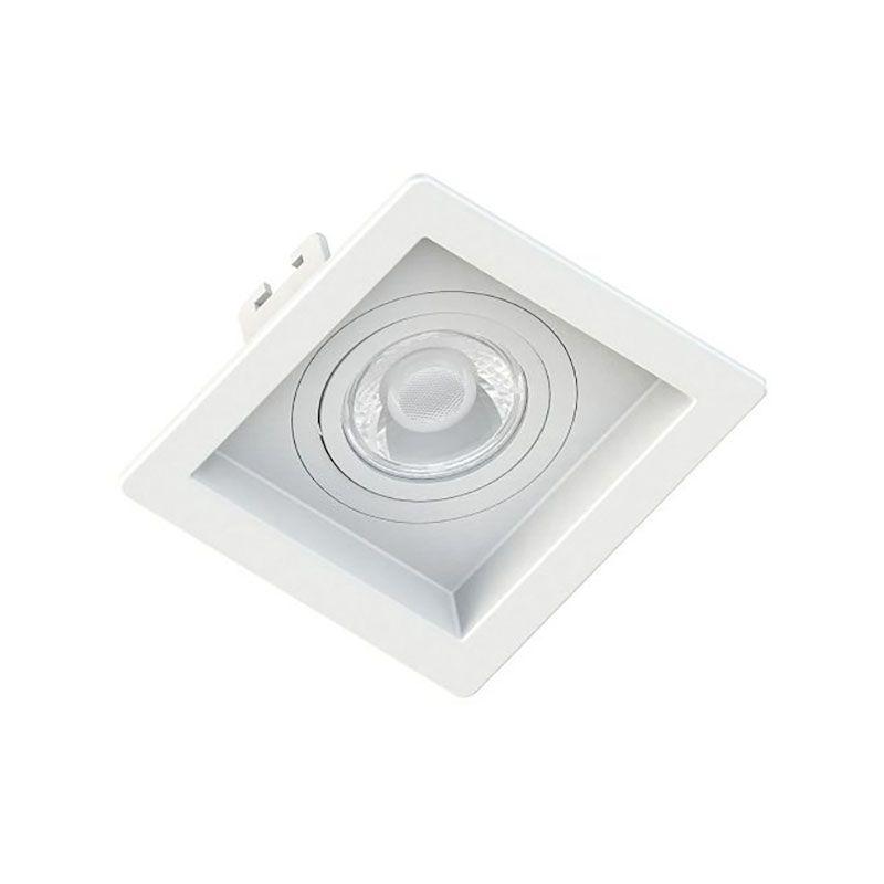 Spot Embutir Save Energy SE-330.1032 Quadrado Recuado 1L Dicróica/PAR16 GU10 100x100x35mm Branco