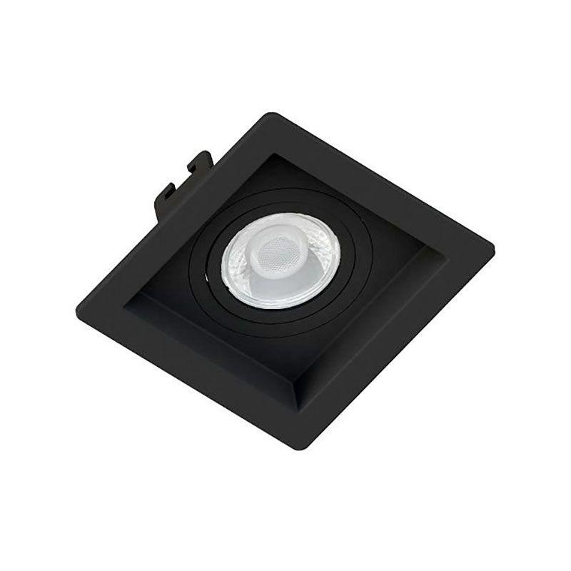 Spot Embutir Save Energy SE-330.1036 Quadrado Recuado Dicróica/PAR16 GU10 100x100x35mm Preto