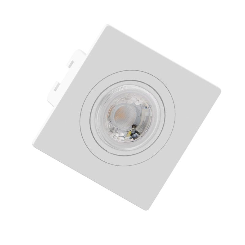 Spot Embutir Save Energy SE-330.1270 Quadrado Face Plana Mini Dicróica GU10 70x70x35mm Branco