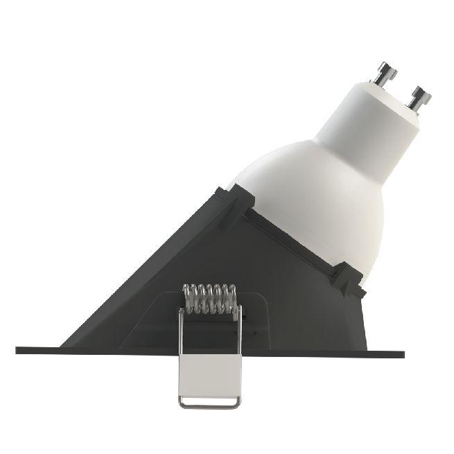 Spot Embutir Save Energy SE-330.1582 Quadrado Angular Dicróica/PAR16 GU10 107x100x47mm Preto